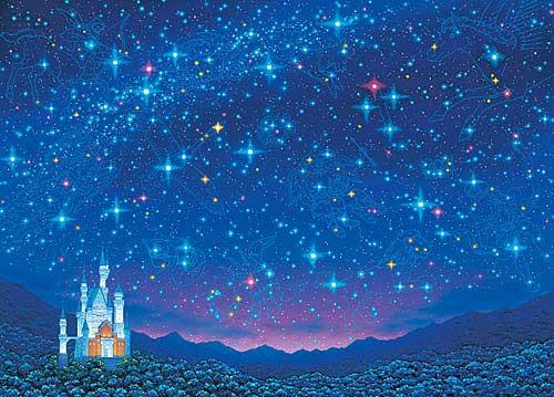 星空とお城